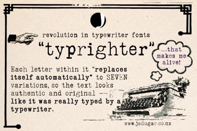 typrighter-Revolution in typewriter Fonts