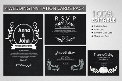Black & White Invitation Pack