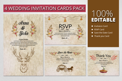 Retro & Rusty Invitation Pack