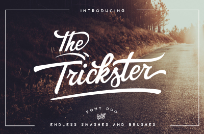 The Trickster - font DUO + extras