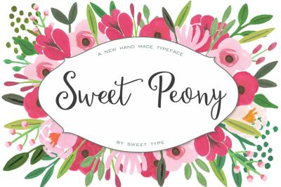 Sweet Peony Handmade Script