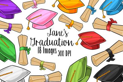 Kawaii Graduation Clipart