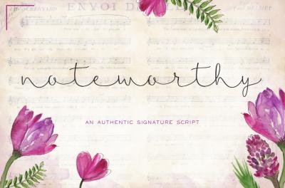 Noteworthy Signature Script