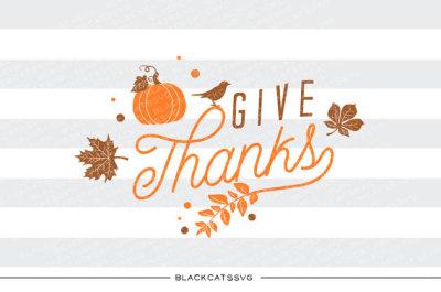 Give thanks - SVG file