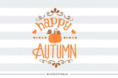 Happy autumn - SVG file