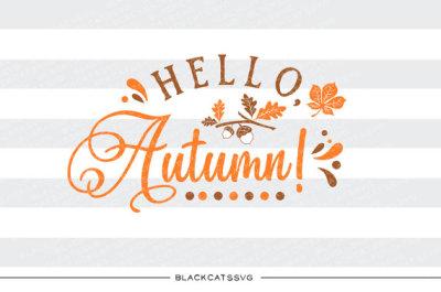 Hello autumn - SVG file