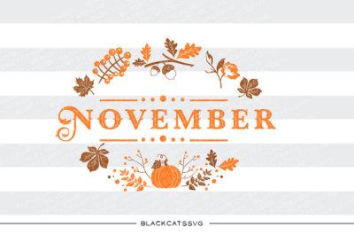 November - SVG file