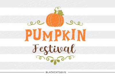 Pumpkin festival - SVG file