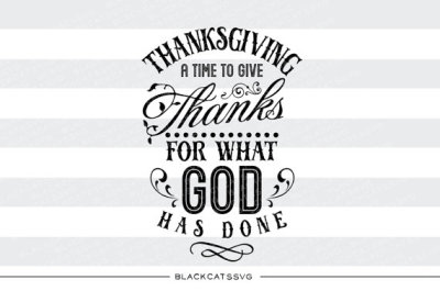 Thanksgiving - a time to give thanks - SVG file