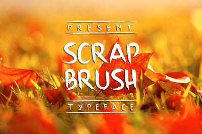 Scrap Brush Typeface