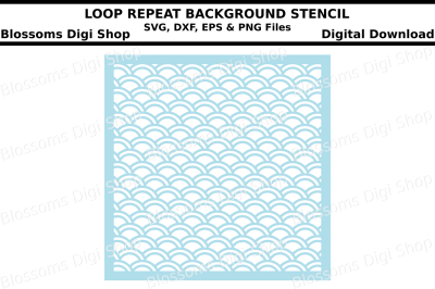 Loop repeat background stencil SVG, DXF, EPS and PNG cut file
