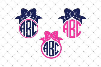 Bow Monogram Frames Files