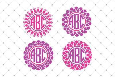 Flower Monogram Frames Files