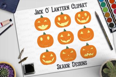 Halloween Pumpkins Clipart Jack O Lantern Clip Art
