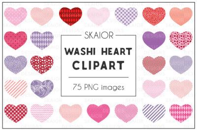 Washi Hearts Clipart