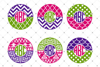 Patterned Circle Monogram Frames Files