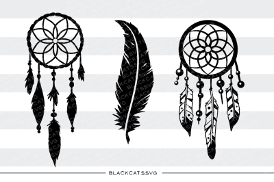 Dreamcatcher and feather - SVG file