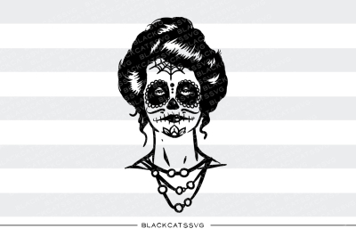 Day of the dead queen - SVG file