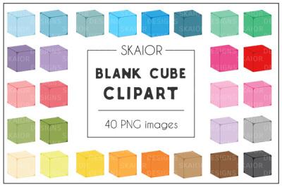 Rainbow Isometric Cube Clipart