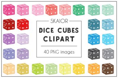 Rainbow Dice Cubes Clipart