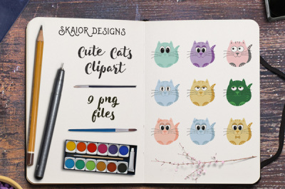 Cute Cats Clipart