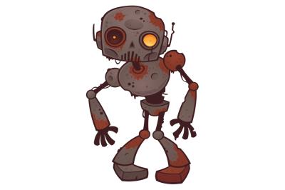 Rusty Zombie Robot
