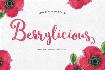 Berrylicious Hand-Lettered