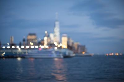 Blurred Manhattan view