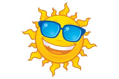 Summer Sun Wearing Sunglasses