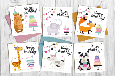 Vector birthday set