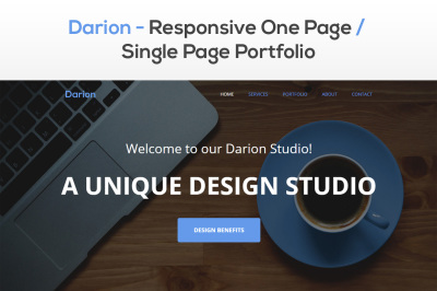 Darion - Responsive One Page / Single Page Portfolio Theme