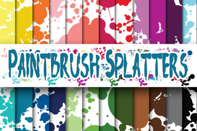 Paintbrush Splatters Digital Papers
