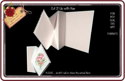 911 Diamond Fold Front Card Multiple MACHINE Formats