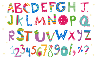 Cute vector alphabet