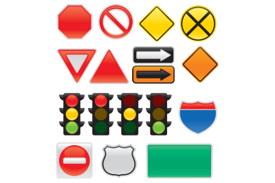 Map And Traffic Signs And Symbols