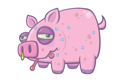Cartoon Swine Flu Pig