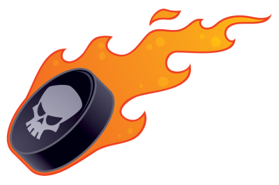 Flaming Hockey Puck