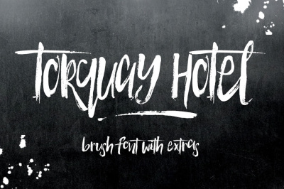Torquay Hotel Brush Font