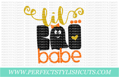 Lil Boo Babe - SVG, EPS, DXF, PNG Files For Cutting Machines