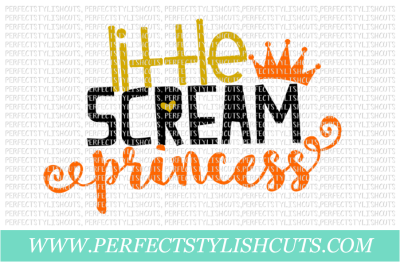 Little Scream Princess - SVG, EPS, DXF, PNG Files For Cutting Machines