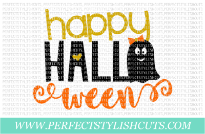 Happy Halloween (Ghost) - SVG, EPS, DXF, PNG Files For Cutting Machines