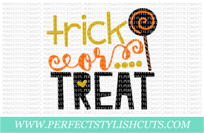 Trick Or Treat - SVG, EPS, DXF, PNG Files For Cutting Machines