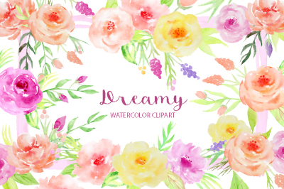 Watercolor Clipart Dreamy Collection