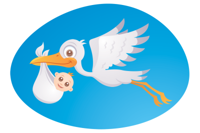 Baby Delivery Stork