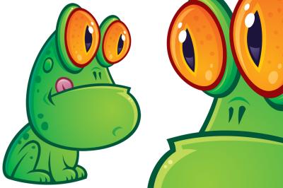 Sitting Frog Cartoon