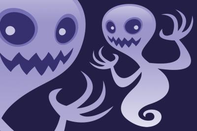 Grinning Ghost Cartoon