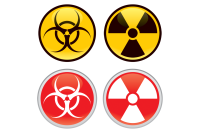 Biohazard and Radioactive Signs