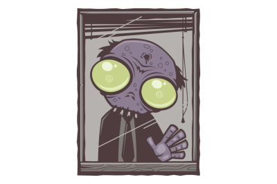 Office Zombie Cartoon