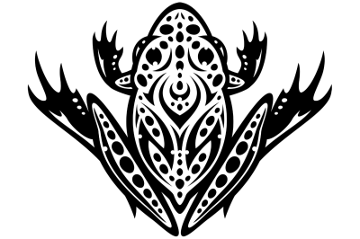 Tribal Leopard Frog Tattoo