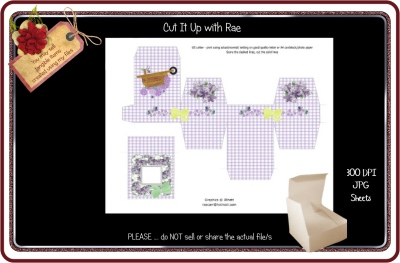 PS177 Jewelry Gift Box  Printable Sheet